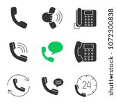phone communication glyph icons ... | Shutterstock .eps vector #1072300838