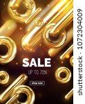 sale banner design. vector 3d... | Shutterstock .eps vector #1072304009