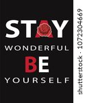 typography slogan with rose ... | Shutterstock .eps vector #1072304669