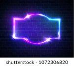 night club neon sign on brick... | Shutterstock .eps vector #1072306820