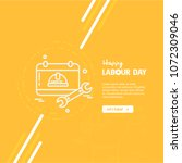 happy labour day design with... | Shutterstock .eps vector #1072309046