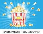 classic popcorn ad poster ... | Shutterstock .eps vector #1072309940