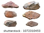 Set of stones isolated on white ...