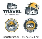 set of tourist bus logo ... | Shutterstock .eps vector #1072317170