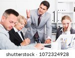 outraged manager expressing... | Shutterstock . vector #1072324928