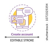 account creating concept icon....   Shutterstock .eps vector #1072325354