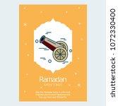 ramadan kareem vector... | Shutterstock .eps vector #1072330400