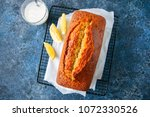 lemon poppy seed pound cake on... | Shutterstock . vector #1072330526
