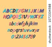 colored latin alphabet....   Shutterstock .eps vector #1072334588