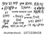 happy mother's day elegant hand ... | Shutterstock .eps vector #1072338428