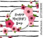 happy mother's day elegant... | Shutterstock .eps vector #1072338500