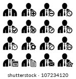set of management and... | Shutterstock .eps vector #107234120