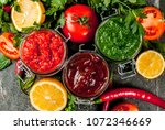 indian traditional food  set of ... | Shutterstock . vector #1072346669