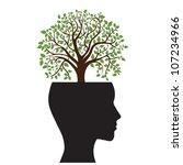 tree silhouette of a man's head ... | Shutterstock .eps vector #107234966
