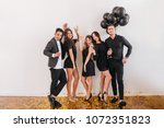 indoor full length portrait of... | Shutterstock . vector #1072351823