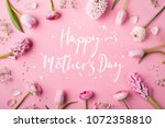 happy mothers day composition.... | Shutterstock . vector #1072358810