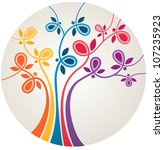 multicolor abstract tree with.... | Shutterstock .eps vector #107235923