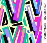 seamless urban funky geometric ... | Shutterstock .eps vector #1072365260
