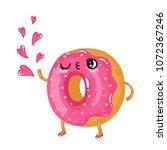 vector illustration of a lovely ... | Shutterstock .eps vector #1072367246
