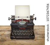 old dutch typewriter on a... | Shutterstock . vector #1072367456