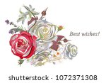 series of greeting backgrounds... | Shutterstock .eps vector #1072371308