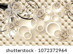 3d flowers background with... | Shutterstock . vector #1072372964