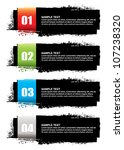abstract grunge ink banner with ... | Shutterstock .eps vector #107238320