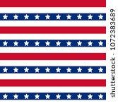 american patriotic stars and... | Shutterstock . vector #1072383689