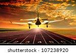 Aircraft Landing On Running...