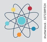 icon structure of the nucleus... | Shutterstock .eps vector #1072389524