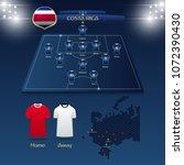 team costa rica soccer jersey... | Shutterstock .eps vector #1072390430