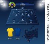 team brazil soccer jersey or... | Shutterstock .eps vector #1072391459