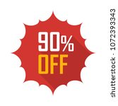 sale tag vector badge template  ... | Shutterstock .eps vector #1072393343
