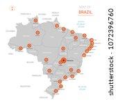 stylized vector brazil map... | Shutterstock .eps vector #1072396760