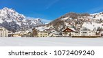 view of the town of engelberg... | Shutterstock . vector #1072409240