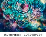 abstract ancient geometric with ... | Shutterstock . vector #1072409339