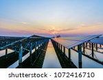 photovoltaic solar power plant... | Shutterstock . vector #1072416710