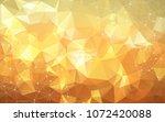 geometric orange polygonal... | Shutterstock .eps vector #1072420088