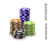 illustration online poker... | Shutterstock .eps vector #1072420478