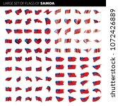 samoa flag  vector illustration | Shutterstock .eps vector #1072426889