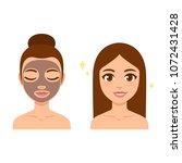 skin care illustration set.... | Shutterstock .eps vector #1072431428