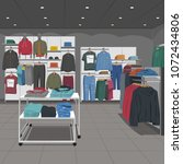 men clothing store | Shutterstock .eps vector #1072434806