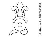 line indigenous xochitl native... | Shutterstock .eps vector #1072445390