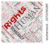 vector conceptual human rights... | Shutterstock .eps vector #1072450289