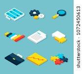 big data analytics isometric...   Shutterstock .eps vector #1072450613
