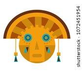 aztec indigenous sculpture... | Shutterstock .eps vector #1072451954