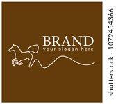 horse line logo. flat design. ... | Shutterstock .eps vector #1072454366