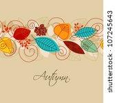 autumn background seamless...   Shutterstock .eps vector #107245643