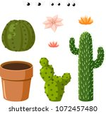 template constructor. blooming...   Shutterstock .eps vector #1072457480
