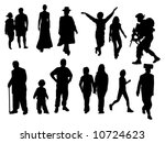 various silhouettes including... | Shutterstock . vector #10724623